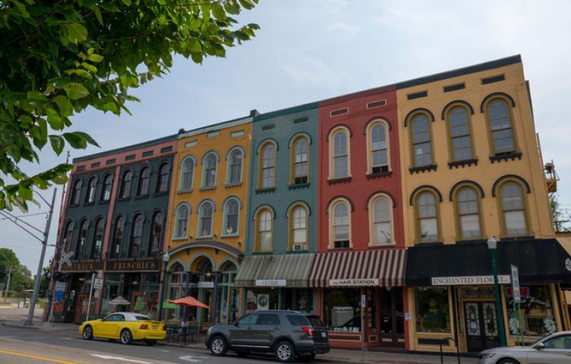 The Depot Town neighborhood in Ypsilanti