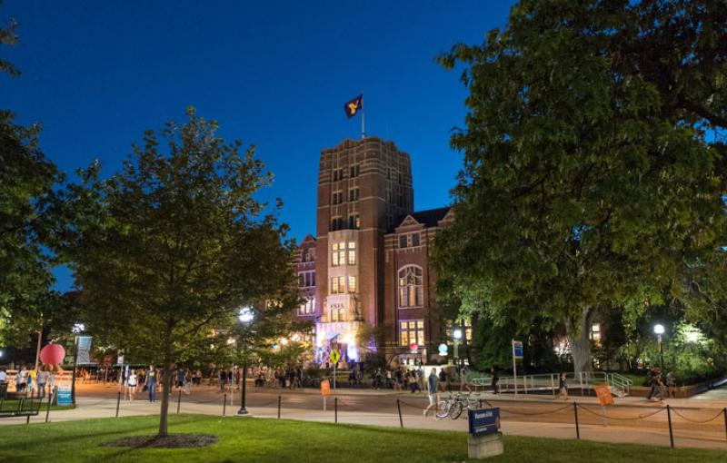 The Michigan Union at night